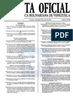 Sumario Gaceta Oficial 39.350