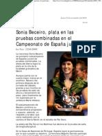 Sonia Beceiro, plata en las pruebas combinadas en el Campeonato de España Juvenil