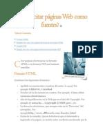 Cómo Citar Páginas Web Como Fuentes