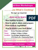 Free Nutrion Workshops