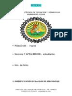 Modulo Ingles 2014