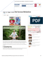 Top 10 Yoga Poses That Increase Metabolism - My Health Tips