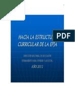 Hacia La Estructura Curricular de La EPJA
