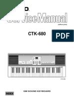 Casio CTK680 Service Manual