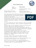 Actor Release Form [Benjamin Bateman]