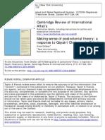 Chibber, Vivek - Making Sense of Postcolonial Theory. a Response to Spivak
