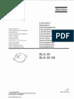 Atlas Copco BLG-30 Lubricator Parts List