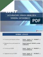 Declaracion Jurada Anual 2014 Tercera Categoria