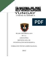 SÍLABO DEASARROLLADO METODOLOGÍA INVESTIGACIÓN MONOGRAFIA I CICLO ETS PNP YUNGAY 2012-II.doc
