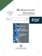 Revista de mediaciones sociales y comunicación
