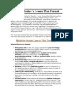 madeline hunter's lesson plan format
