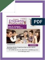 Brief Seminario Imagen Etiqueta y Protocolo de Negocios - Febrero 2015