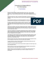 Declaração de Independência do Ciberespaço - John Perry Barlow