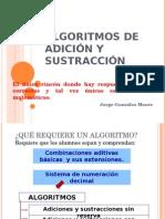 Clase Algortimos Sumas y Restas