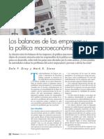 Los Balances de Las Empresas y La Politica Macroeconomica