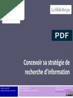 Concevoir sa stratégie de recherche d'information
