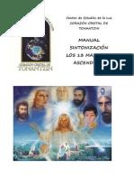 Manual Sintonizacion 13 Maestros Ascendidos - Corazón Cristal de Tonantzin