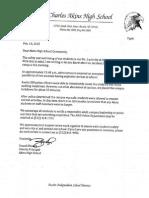 Lockdown Letter
