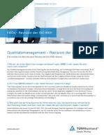 FAQs Revision ISO9001 TUV Rheinland