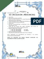 Requisitos Para Tarjeta de Circulación