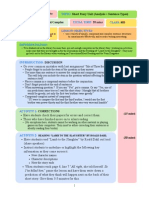 Lesson Plan - Short Story Unit (Analysis & Sentence Types)