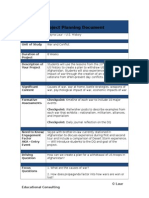 Project Planning Document- Sample