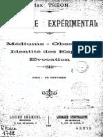Max THEON - Spiritisme expérimental