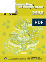 Produto Interno Bruto (PIB) Dos Municípios de Goiás - 2008