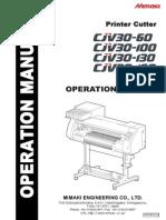 Operation Manual CJV30
