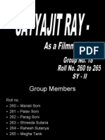 Biography – Satyajit Ray  by Rahesh Sutariya