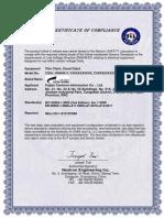 C35A CE LVD Certificate