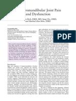 Temporomandibular Joint Pain and Dysfunction