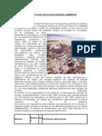 El Impacto de Los Plásticos en El Ambiente