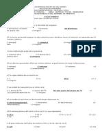 Segundo Examen Parcial Área Química Fecha 08-05-2010