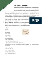 Tema 2 Notacion Cientifica, ejercicios resueltos y para resolver