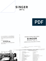 Singer 307G Operations manual