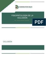 Fisisopatologia de la oclusion