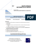 South African Mathematics Olypiad 2012 Senior Sector