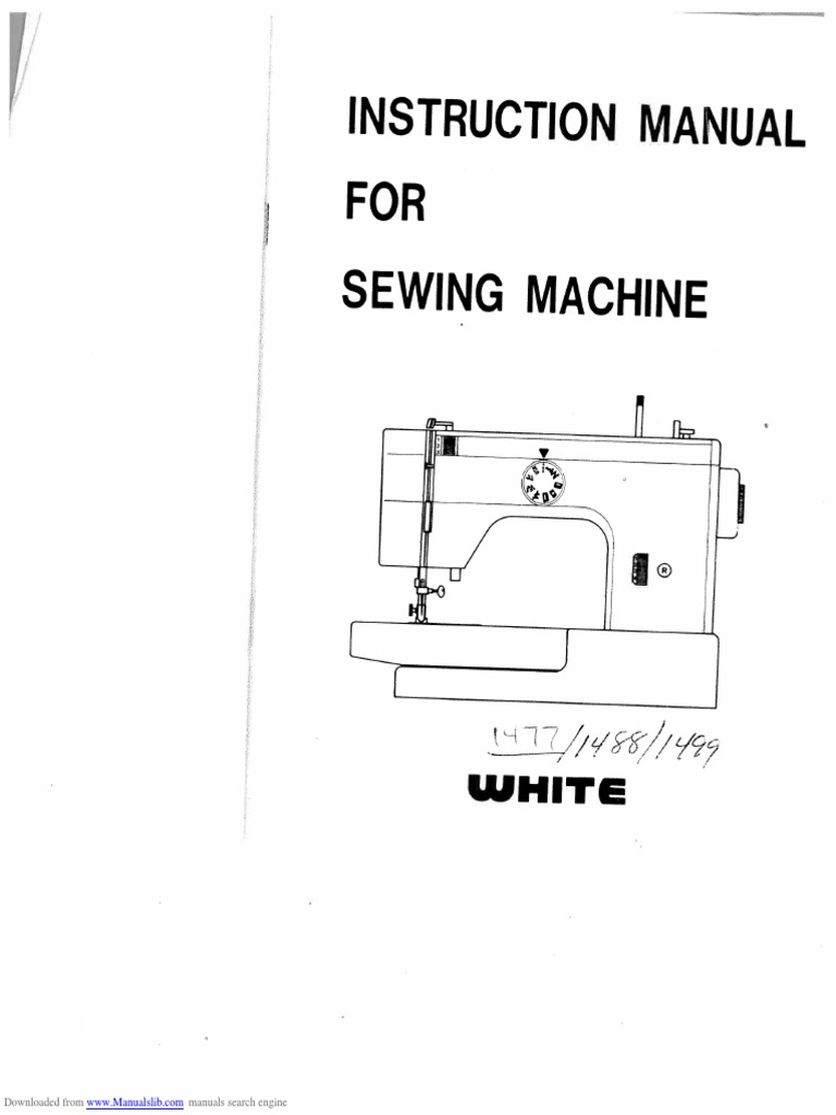 White 1477 1488 1499 user manual sewing machine sewing fandeluxe Image collections