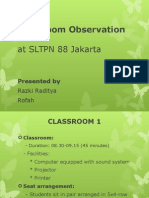Classroom Observation Project
