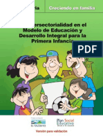 Manual de Intersectorialidad