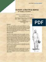 Quarterstaff, A Practical Manual - Thomas a. McCarthy 1883