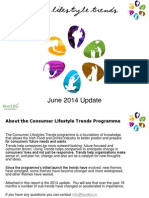 Consumer Lifestyle Trends  June 2014