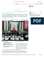 05-02-15 Cinco Diputados Piden Licencia, Cinco Toman Protesta y Uno Se Reincorpora - Diario Legislativo