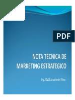 Nota Tecnica de Marketing