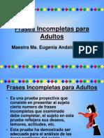 Frases Incompletas Para Adultos.