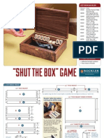 Shut the Box Diy Plan