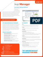 Idera Datasheet Server Backup