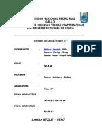 Informe N°01 de Física IV