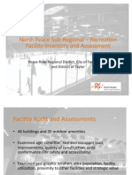 North Peace Sub-Regional–	Recreation Facility Inventory and Assessment